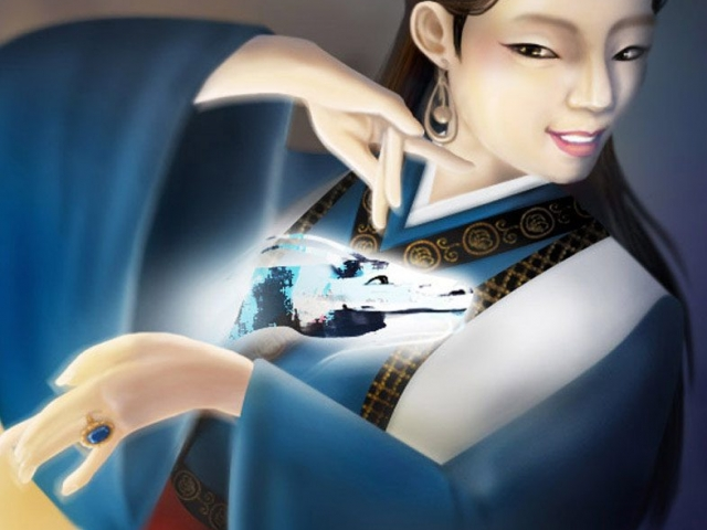Dragon dancer, digimaalaus, digitalpainting