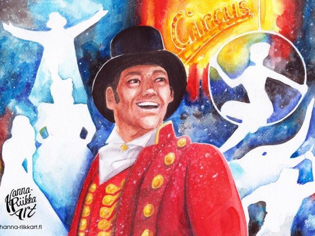 The Greatest Showman, vesivärityö, watercolor painting