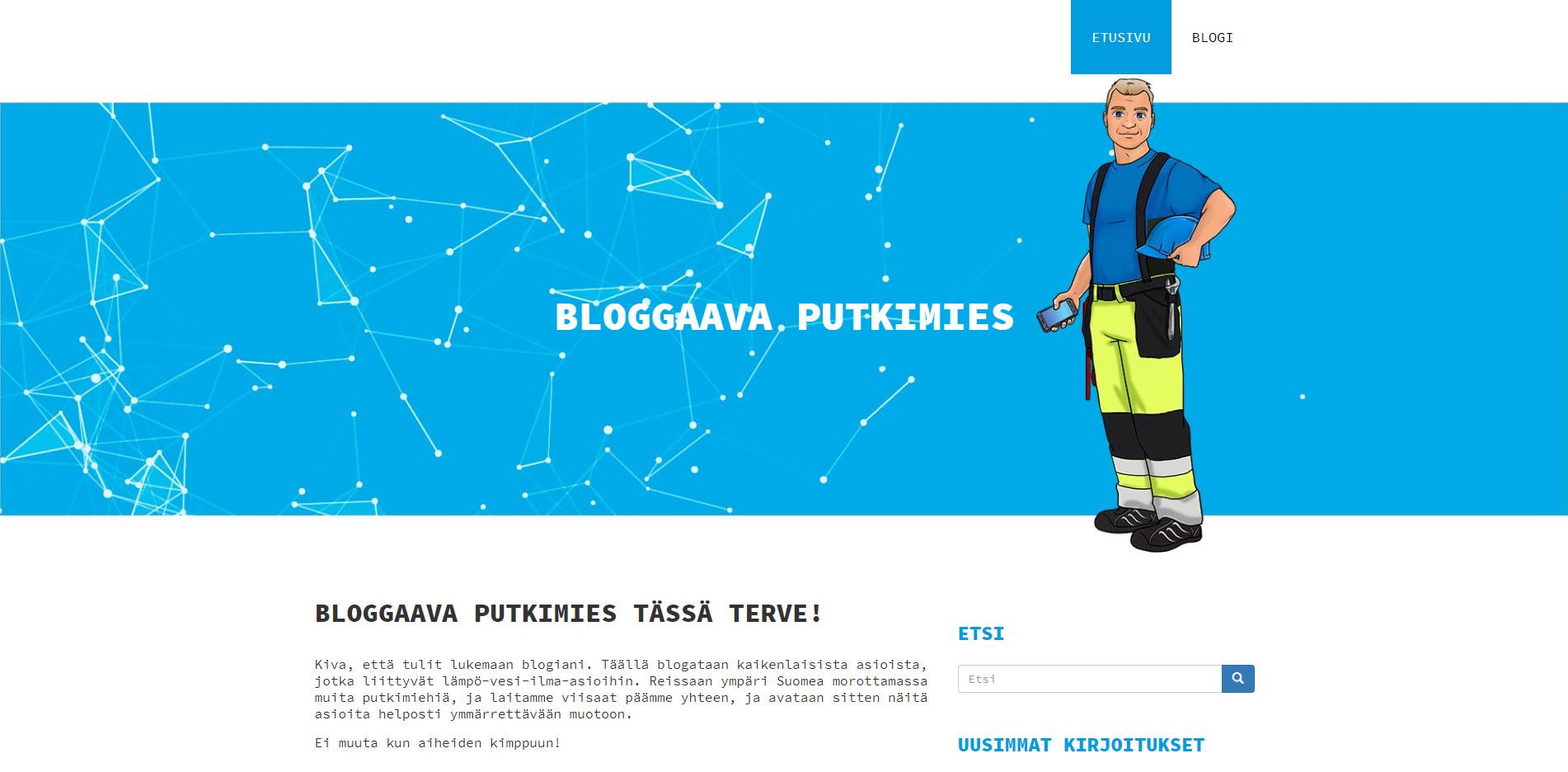 Hahmosuunnittelutyö blogille, Bloggaava putkimies