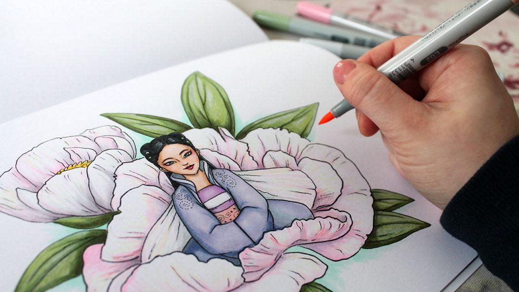 Värityskuvia ja sarjakuvaa