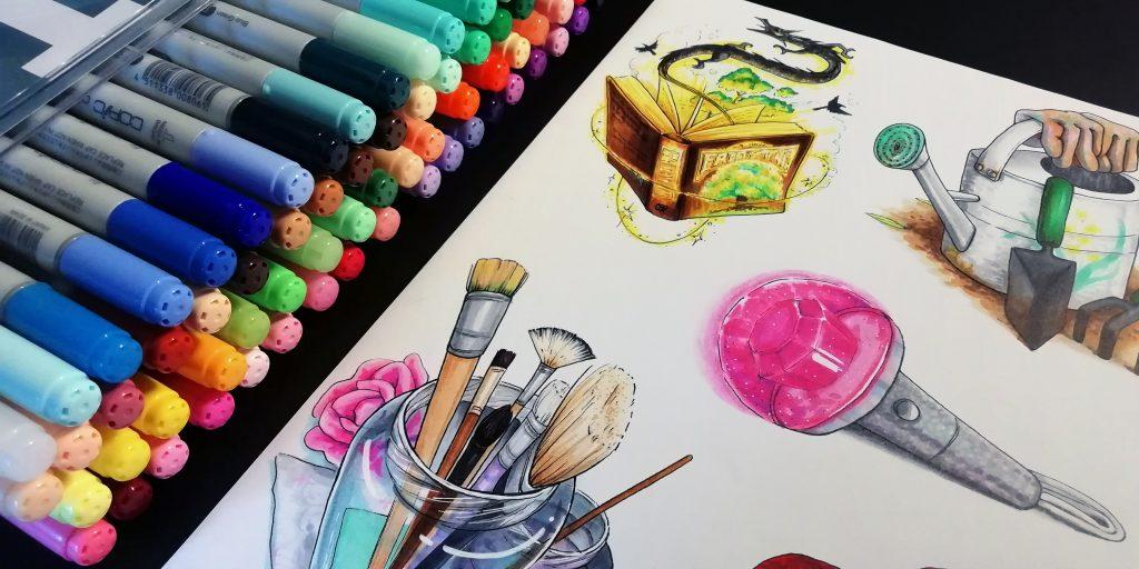 Värikkäitä tavaroita
